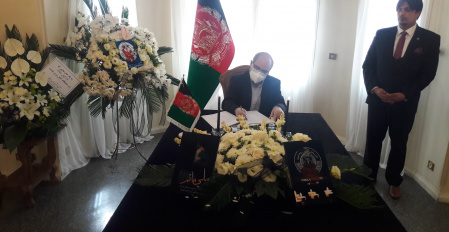 UT Vice President for International Affairs attends the Embassy of Afghanistan to express Sympathy with Kabul University